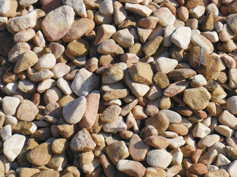 20-40mm-Peaches and Cream decorative pebble available at The Yard Landscape and Garden Centre, Doonan