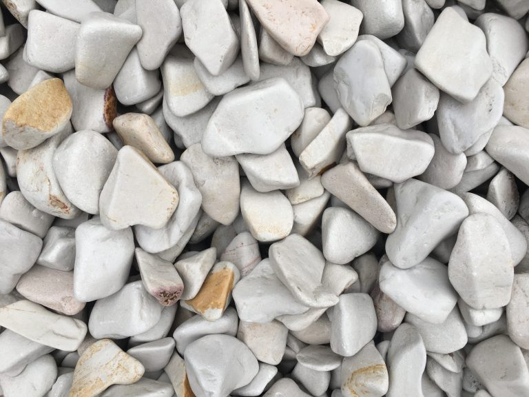 20-40mm White Linen Sandstone decorative pebble available at The Yard Landscape and Garden Centre, Doonan