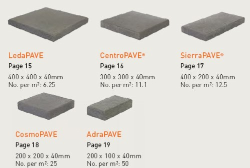 Apex LeMode Paver sizes available at The Yard Landscape and Garden Centre, Doonan