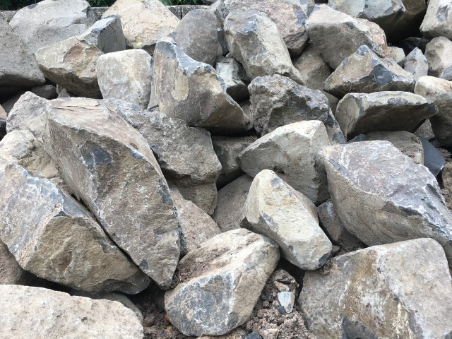 Basalt Rock available from The Yard Landscape Centre in Doonan
