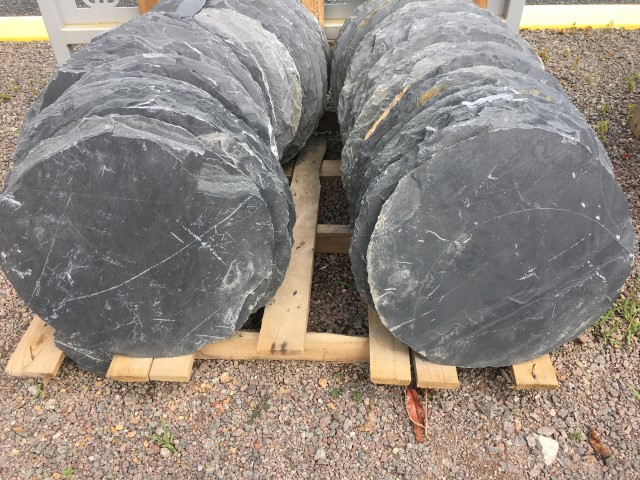 Black Slate Steppers available at The Yard Landscape and garden Centre, Doonan