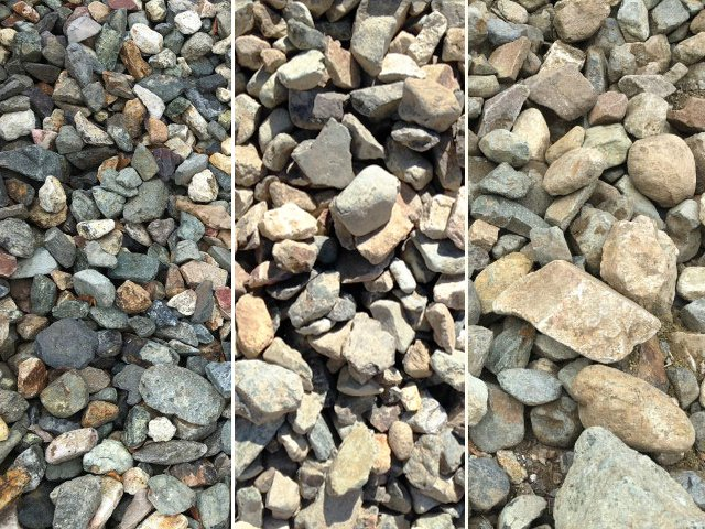 50-75, 100-200 and 150-400mm Envirostone available at The Yard Landscape and Garden Centre, Doonan