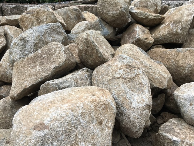 Granite Rock available from The Yard Landscape Centre in Doonan