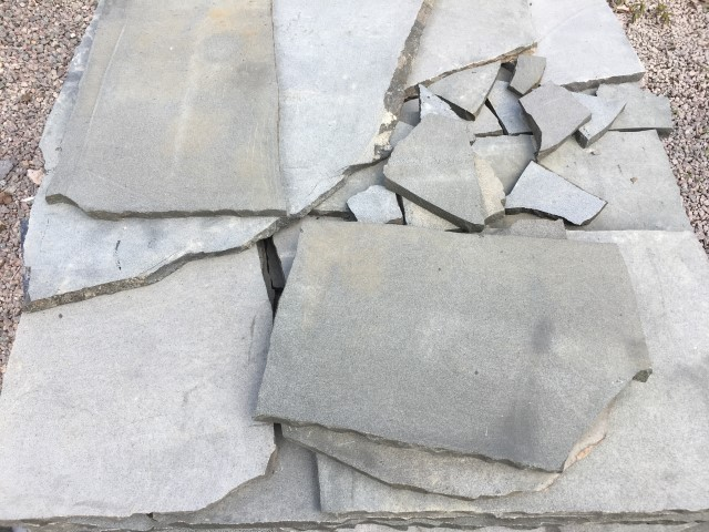 Bluestone Crazy Paving available at The Yard Landscape and garden Centre, Doonan