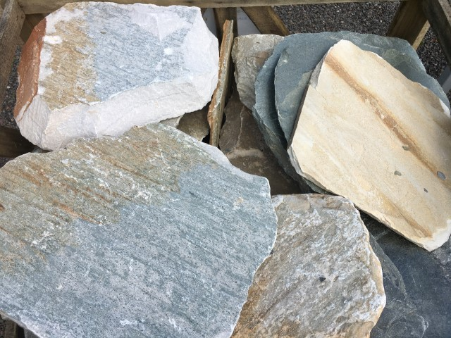 Natural Granite Steppers available at The Yard Landscape and garden Centre, Doonan