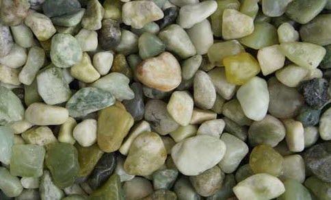 Kashmiri Polished Jade Decorative Pebbles available from The Yard Landscape Centre in Doonan