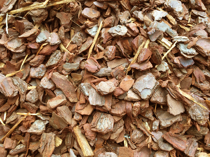 Pine Bark mulch available at The Yard Landscape and Garden Centre, Doonan