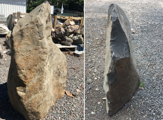 Feature Basalt Pillar Rocks available from The Yard Landscape Centre in Doonan