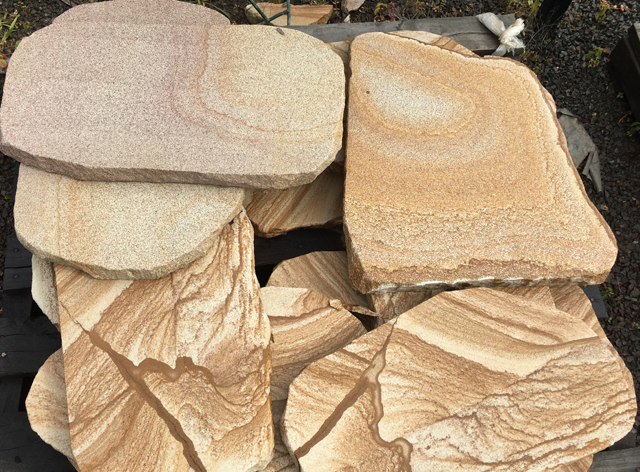 Sandstone Steppers available at The Yard Landscape and garden Centre, Doonan