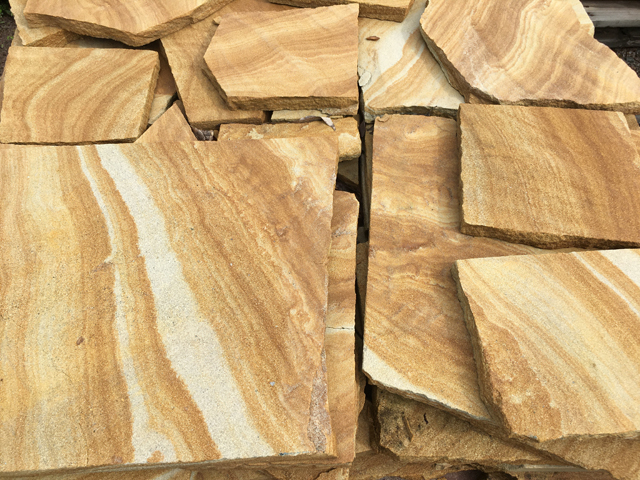 Sandstone Crazy Paving available at The Yard Landscape and garden Centre, Doonan