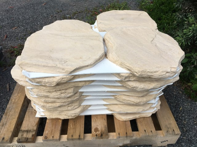 Stonemaker Concrete Steppers - Sandstone available at The Yard Landscape and garden Centre, Doonan