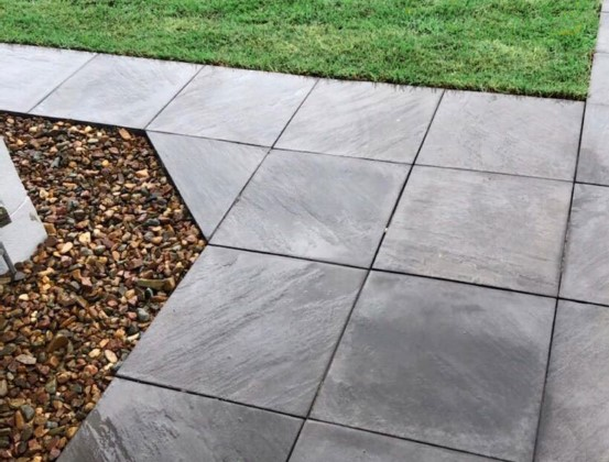Stonemakers Pavers in Charcoal available at The Yard Landscape and Garden Centre