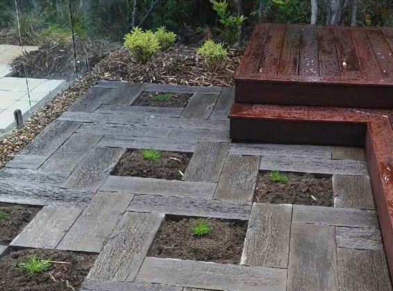 Stonemakers Woodenstone Pavers available at The Yard Landscape and Garden Centre