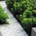 Example of Formboss galvanised edging available from The Yard Landscape Centre in Doonan